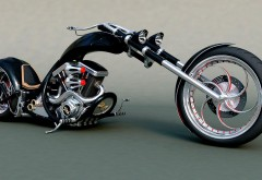 Chopper Bike Тюнинг мотоцикл Hot Rod уникальные обои для рабоче…