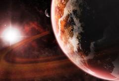 планета и ее спутник широкоформатные обои