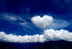 облака, люблю, романтика, настроение, сердце, картинки