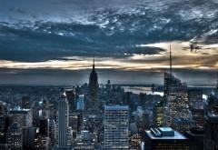 Картинки, Облака, Свет, Здания, Нью-Йорк, город, небоскр�…