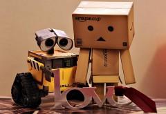 danboard, ВАЛЛ-И, коробки, роботы, пара, любовь, обида