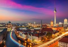 Танцующие огни в Берлине заставки на рабочий стол