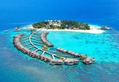 Тропический остров Мальдивы обои на рабочий стол