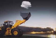 Экскаватор облако юмор картинки на рабочий стол