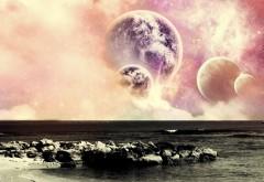 Планеты над океаном неба