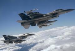F-16 Fighting Falcon истребитель обои на рабочий стол