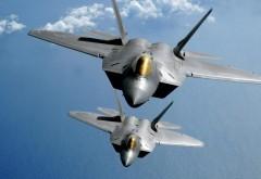 F22 Тандем Полет истребитель обои на рабочий стол