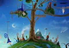 Фантастические обои детской планеты Земля