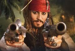 пистолеты, пираты карибского, Джонни Депп, актеры, капитан, Джек Воробей, фильмы