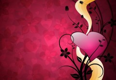 Сердце, линии, фон, яркий, любовь