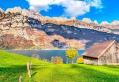 Прекрасные горы под голубым небом