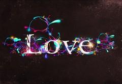 love, lettering, designs, glow