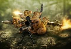 оборона, фоны, карликовые лори, оружие, снайпер
