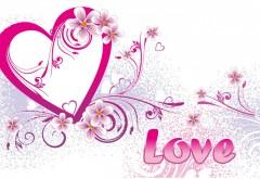 Любовь сердце на белом фоне