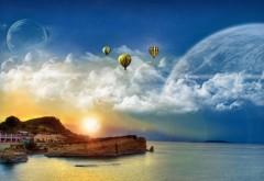 Фэнтези природа, закат на море
