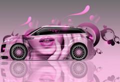 розовая машина фоны