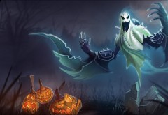 хэллоуин, привидение, тыквы, Хэллоуин, призрак