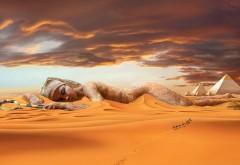 пустыня, караван, нефертити
