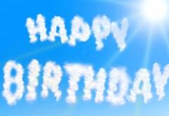 счастливые облака, День рождения, фоны
