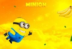 миньон, банана, банан, желтый, супер герой, супермен, minio…
