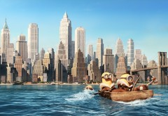 Нью-Йорк, миньоны, мультфильм, HD, Minions, обои