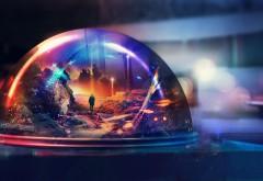 память о прошлом, стекляный шар, абстрактные