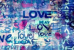 знак, любовь, настроение, красочный, фон, заставки, love